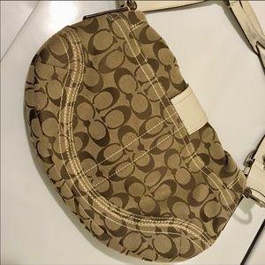 Coach Bags - COACH Signature Shoulder Bag Leather/Canvas Purse